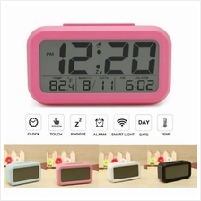 Light-sensitive Digital LCD Snooze Alarm Clock White LED Backlight