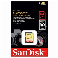 SANDISK EXTREME 32GB 64GB SD SDHC CLASS 10 90MB/S MEMORY CARD