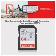 SANDISK 32GB 64GB SD SDHC ULTRA CLASS 10 80MB/S MEMORY CARD