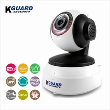 KGuard Security 720P WiFi Pan/Tilt IP Camera with Night Vision White (