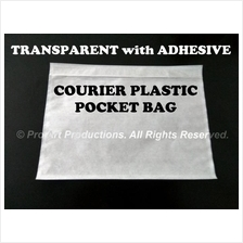 COURIER PLASTIC POCKET BAG Transparent with Adhesive for AWB CN & more