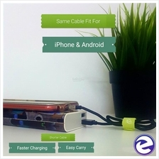 WSKEN 2in1 Fast Charge USB Data Travel Charging Cable