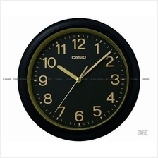 CASIO IQ-59-1 analogue wall clock simple easy reader black