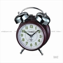 CASIO TQ-362-4B bedside bell alarm snooze maroon white