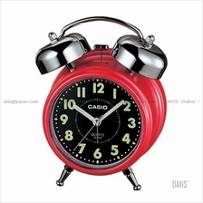 CASIO TQ-362-4A bedside bell alarm snooze red black