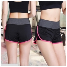 2-in-1 Women Sport Wear Waistband Skinny Yoga Running Dry Fit