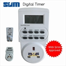 Electronic Digital Timer Socket Plug with LCD Display (SIRIM APPROVED)