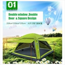 Camping Tent with Mosquito Net 3 to 4 Person Water proof