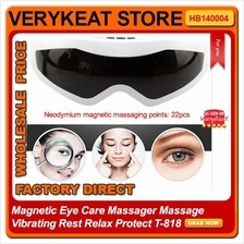 Magnetic Eye Care Massager Massage Vibrating Rest Relax Protect T-818