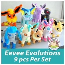 Pokemon Go Pikachu Eevee Evolution Soft Plush Toy Doll 9pcs Set (25cm):  Best Price in Malaysia