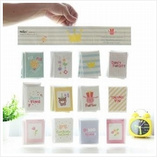 12 PCS Set Creative Happy Life Small Birthday Greeting Thank You Card
