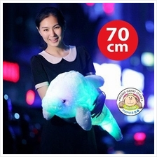 Induction LED Light Luminous Dolphin Plush Pillow Toy Doll 70cm