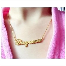 Woman Man Personalized Custom Made DIY Name Necklace Silver