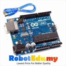 Arduino Compatible Atmel DIP ATMEGA328P UNO R3 - Free USB B type Cable