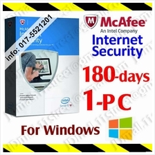McAfee Internet Security 2017 180DAYS1PC LiveSafe AntiVirus anti virus