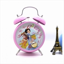 Disney Princess Twin Bell Alarm Table Clock 4Inch Metal STRONG Sound