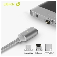 WSKEN Micro USB/ Apple iPhone / Type-C 2.4A Magnetic Mini2 X-Cable