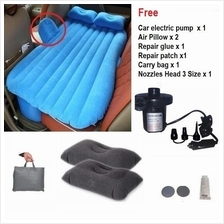 Inflatable Car Back Seat Air Bed Mattress Free Air Pump + 2 Air Pillow