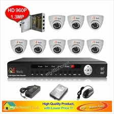 CCTV 8-CH A-HD DVR Recorder with Infra Red Dome Camera System