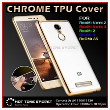 Iphone 5 6 6+ 6S 7Plus Redmi Note 2 3 3S 4 4A Max PRO Chrome TPU Cover