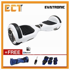 Evatronic Two Wheel Self Balancing Smart Hover Board Scooter (White)