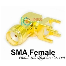 SMA Female RF Connector Solder PCB edge launch mounting style Project
