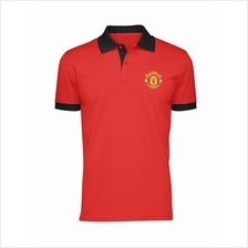 Manchester United FC Contrast Polo Shirt