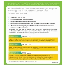 Acer Super Care On-Site Warranty Pack