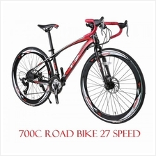 Road Bike 700C Bicycle 27 Speed Disc Brake High Carbon Steel