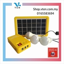 Portable 3W Solar System With 3 Bulb Emergency LED Light Lamp