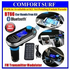 BT66 Car Bluetooth Hands-free MP3 Player FM Transmitter 2x USB Charger