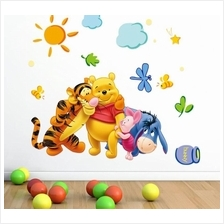 Winnie The Pooh Vinyl Wall Stickers Removable Decorative Decals