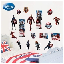 Avengers Vinyl Wall Stickers Removable Decorative Decals