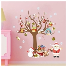 Merry Christmas Tree Vinyl Wall Stickers Removable Decorative Decals