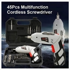 45pcs Cordless Electric Screwdriver Drill Tool Set ~ Fast Shipping