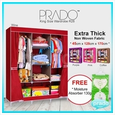 PRADO High Quality King Size Wardrobe Dust Cover DIY Storage Rack R28