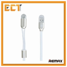 Remax RC-025T 2 in 1 Micro USB with Lightning Magnetic Charging(White)