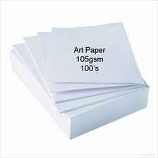 200pcs Art Paper 105gsm Double Side Glossy *Free Shipping