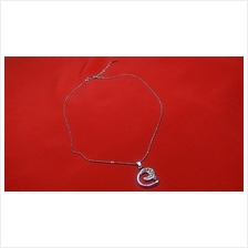 Fashion Silver Exotic G-Shape Crystal Necklace
