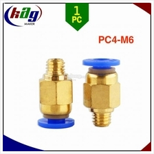 Push in fitting PC4-M6 for extruder tubing 4mm to hot end