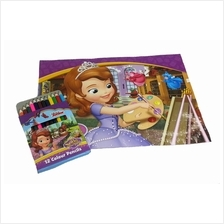 DISNEY SOFIA THE FIRST PAINTING GIRL COLOURING BOOK SET
