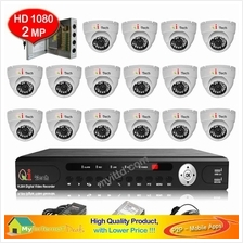 CCTV 16-CH A-HD DVR Recorder with Infra Red Dome Camera Package