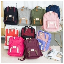 Square Polyester Fiber Waterproof Multi-Compartments 2 ways Backpack