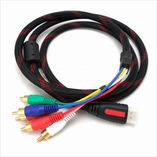 HDMI to 5 RCA Video Cable 1080p Gold Plated