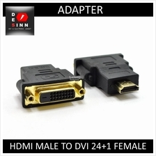 HDMI Male to DVI 24+1 Pins Female Adapter (Black)