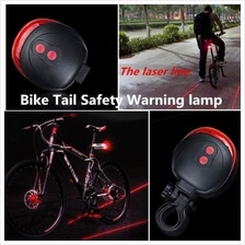 Bike Bicycle Safety Laser Rear Led Tail Light Parallel Line 7-Mode