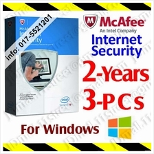 McAfee Internet Security 2017 2YEAR 3PC LiveSafe AntiVirus anti virus