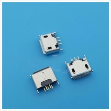 5pc Micro USB Type AB Female 180 DIP 5Pin Socket Connector