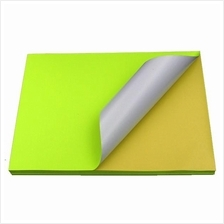 Fluorescent Yellow Sticker Color Paper Label A4 100's *Free Shipping