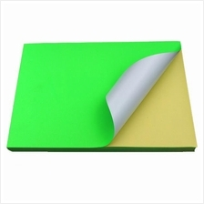 Fluorescent Green Sticker Color Paper Label A4 100's *Free Shipping